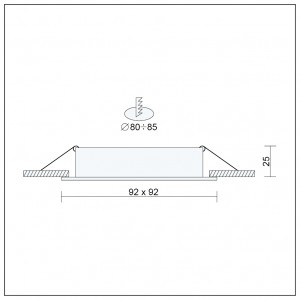 Wandlampe LED 12W IP44 RAD34B